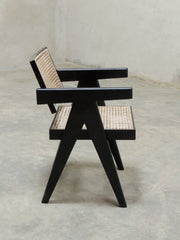 Pierre Jeanneret Office Chair in black