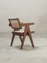Office Chair (V leg) - Natural Teak finish
