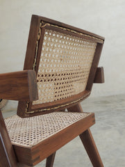 Back of the Office Cane Chair based on Pierre Jeanneret's chair for Chandigarh