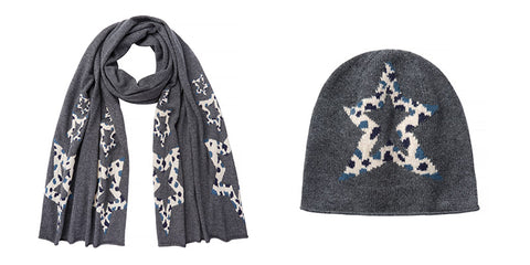 Kenza Animal Star Beanie and Scarf