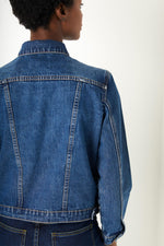 Delphine Cropped Jacket - Rinse Denim