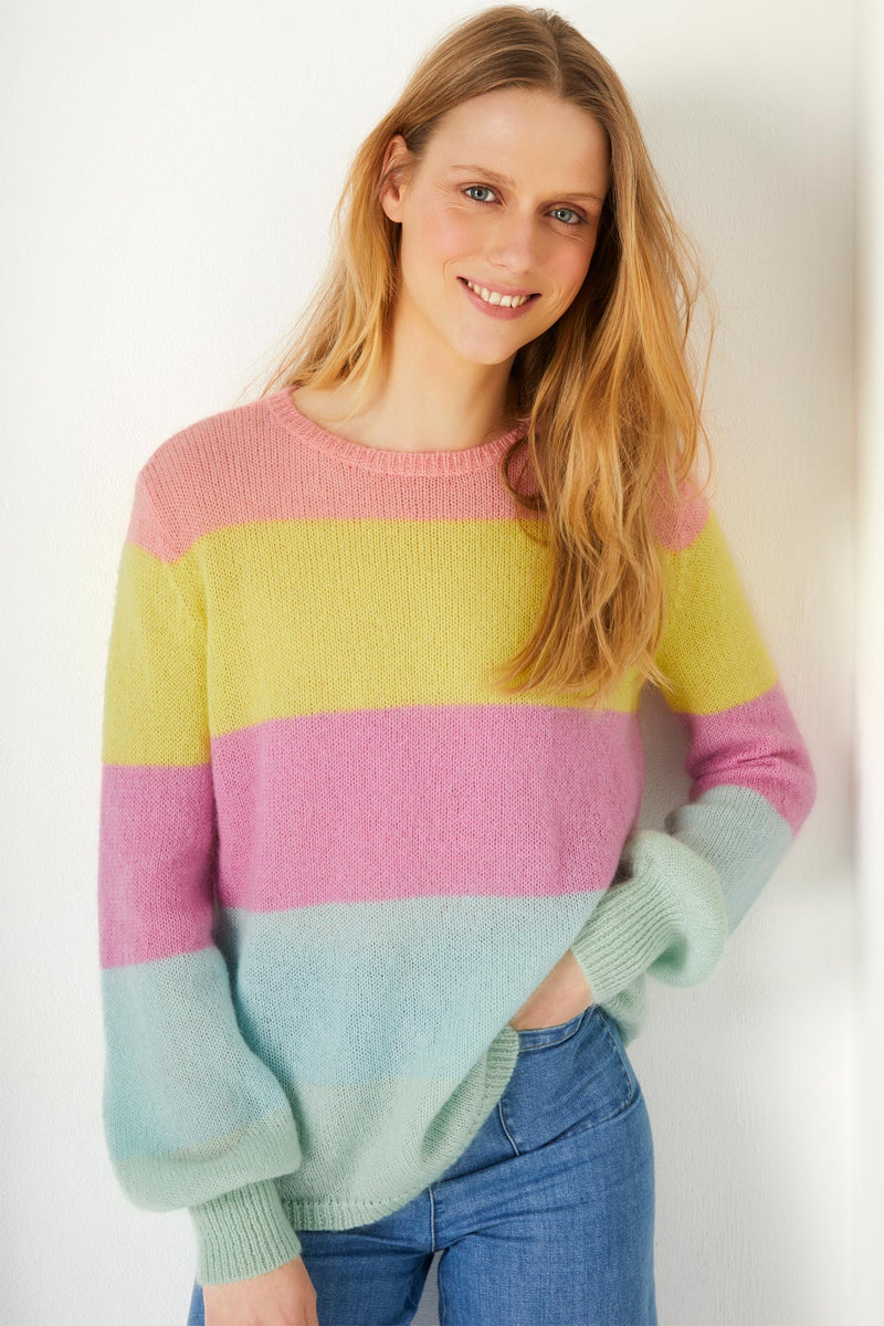 Fran Ice Cream Stripe Jumper - Pastel
