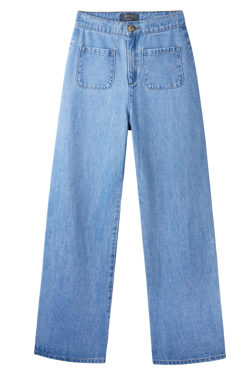 Florence Flared Jean - Mid Wash