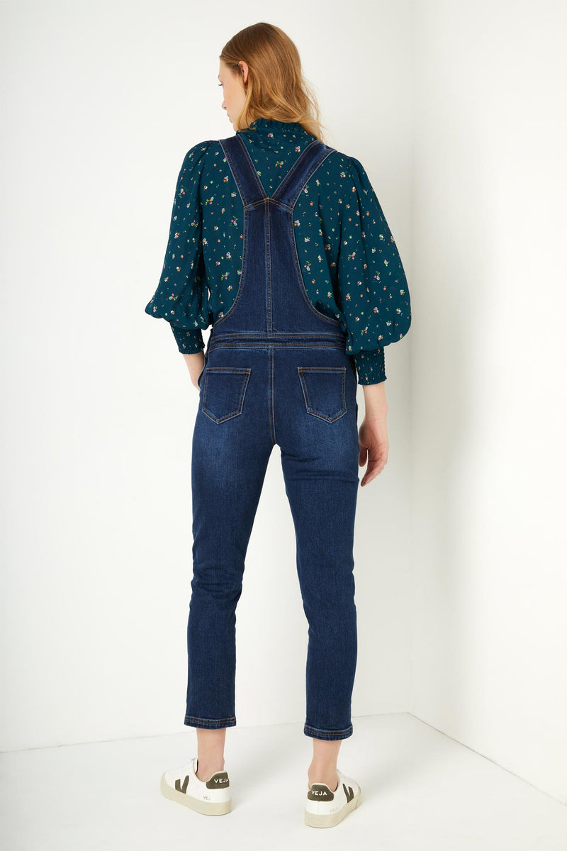 Scarlett Scallop Dungaree - Rinse Denim