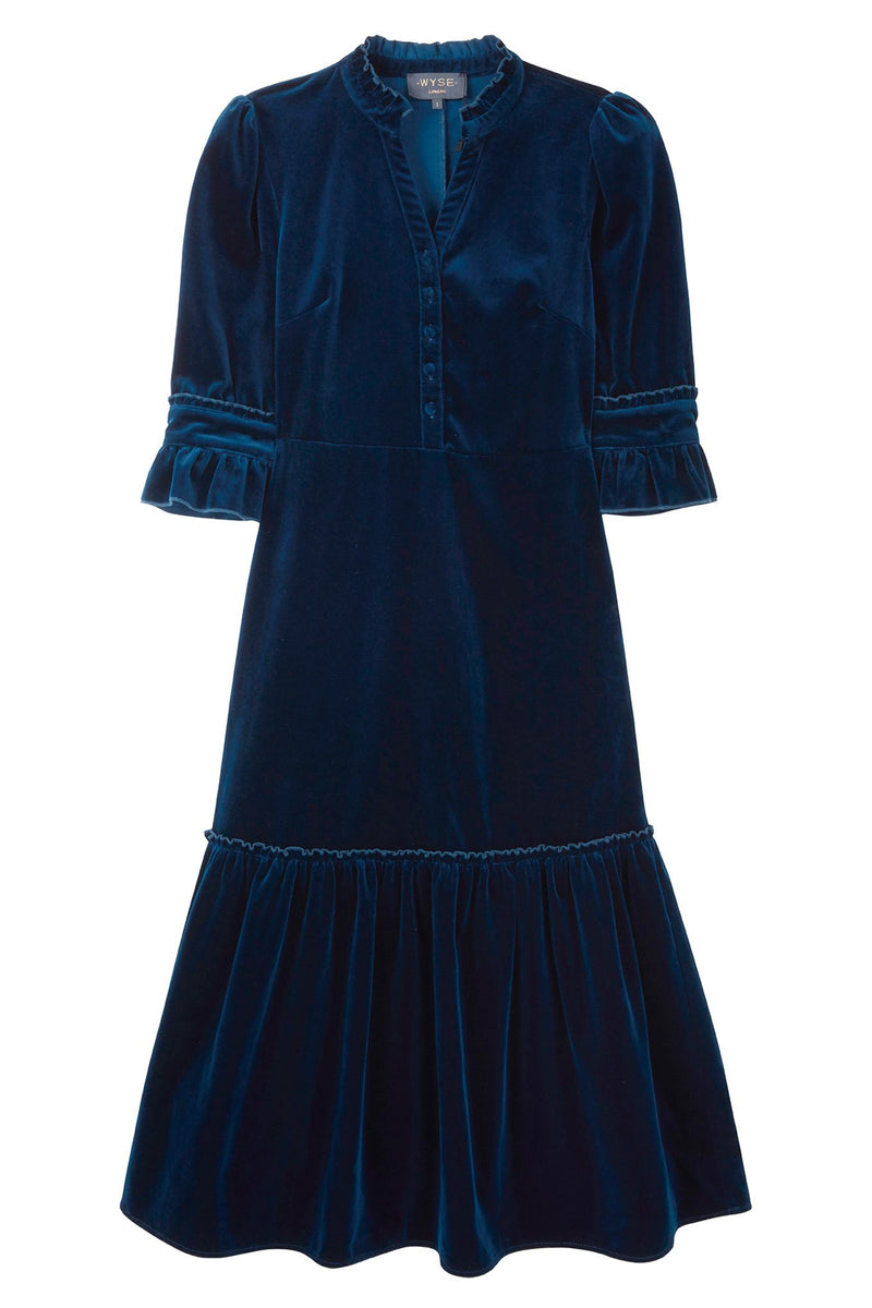 DB x Wyse Velvet Dress - Petrol