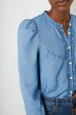 Freida Blouse - Chambray
