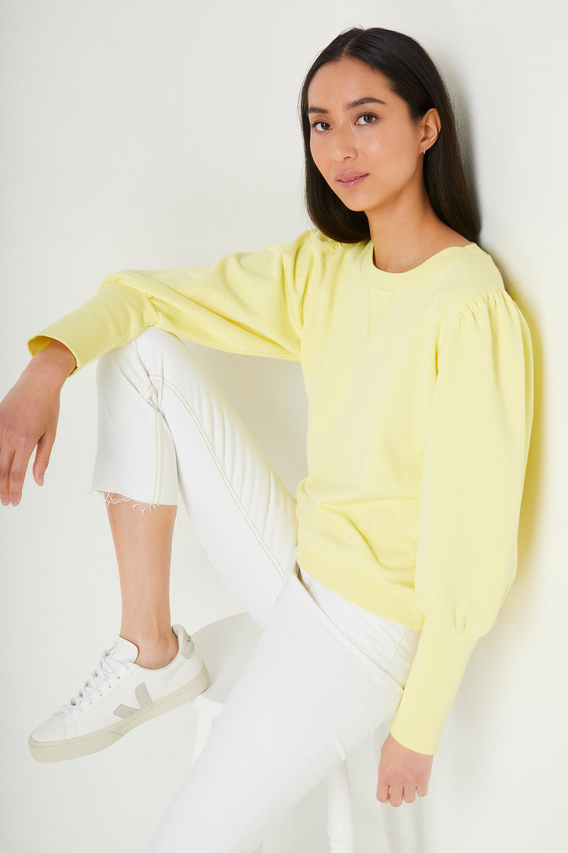 Adele Plain Sweatshirt - Yellow