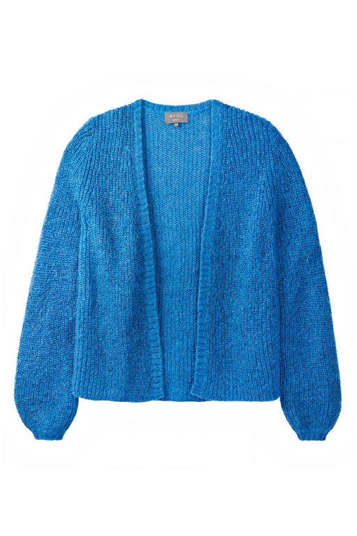 Angelina Lurex Rib Cardigan - Blue