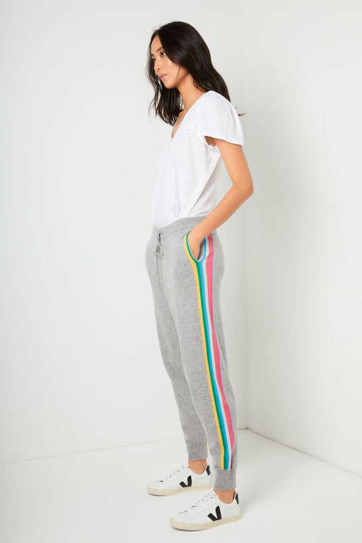 Aurelie Rainbow Stripe Lounger - Grey