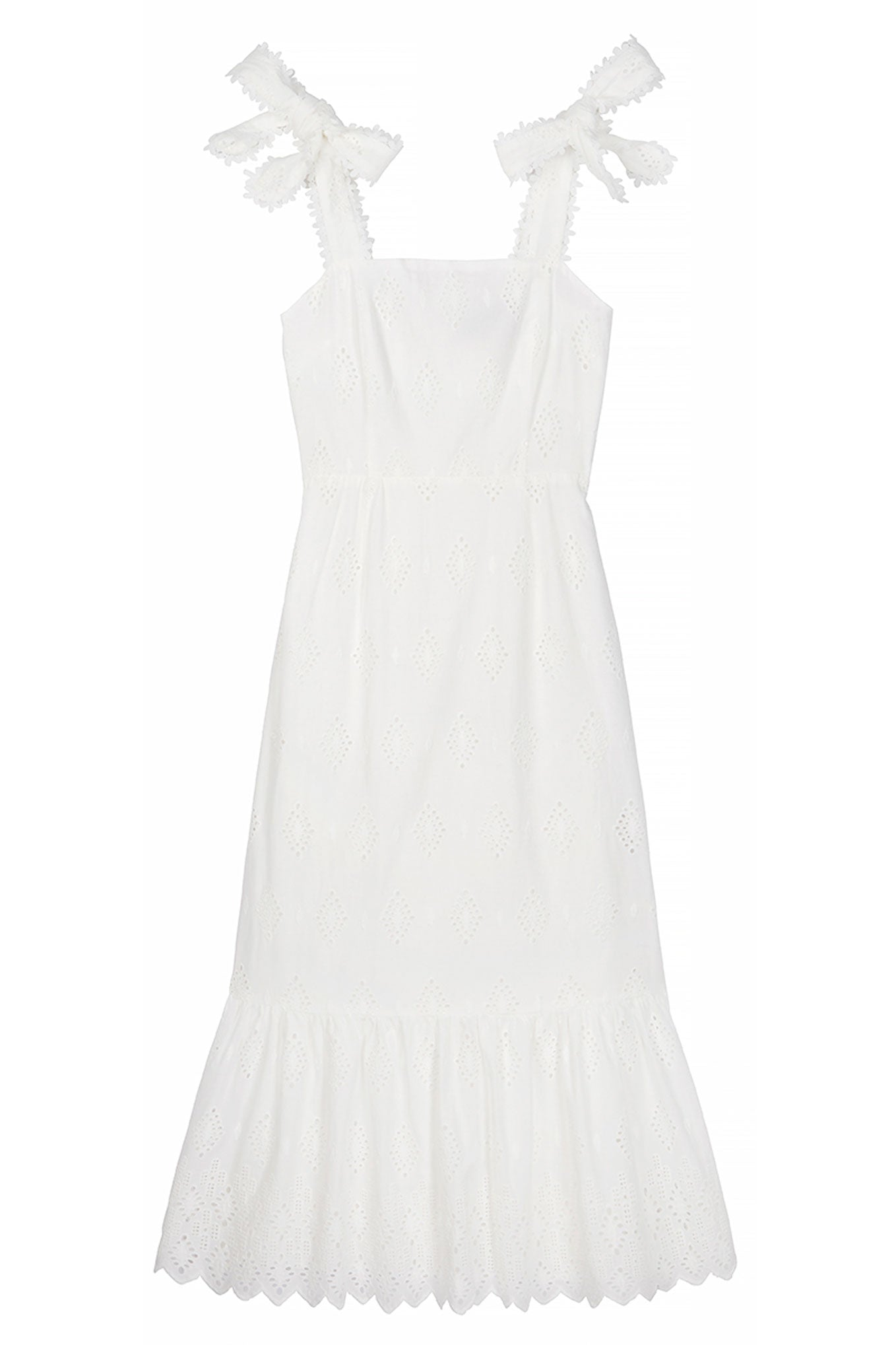 BEATRICE BRODERIE DRESS - White