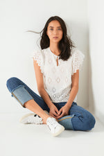 BELLE BRODERIE BLOUSE - White
