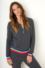 Colette Rainbow Bomber - Charcoal