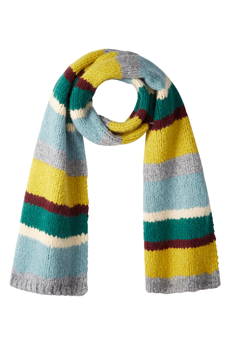 DB X Wyse Chunky Stripe Scarf - Grey/Multi