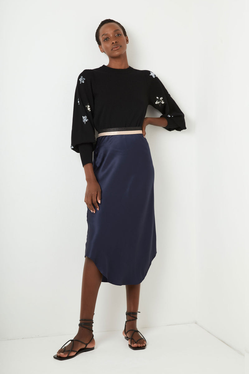 Eloise Slip Skirt - Navy