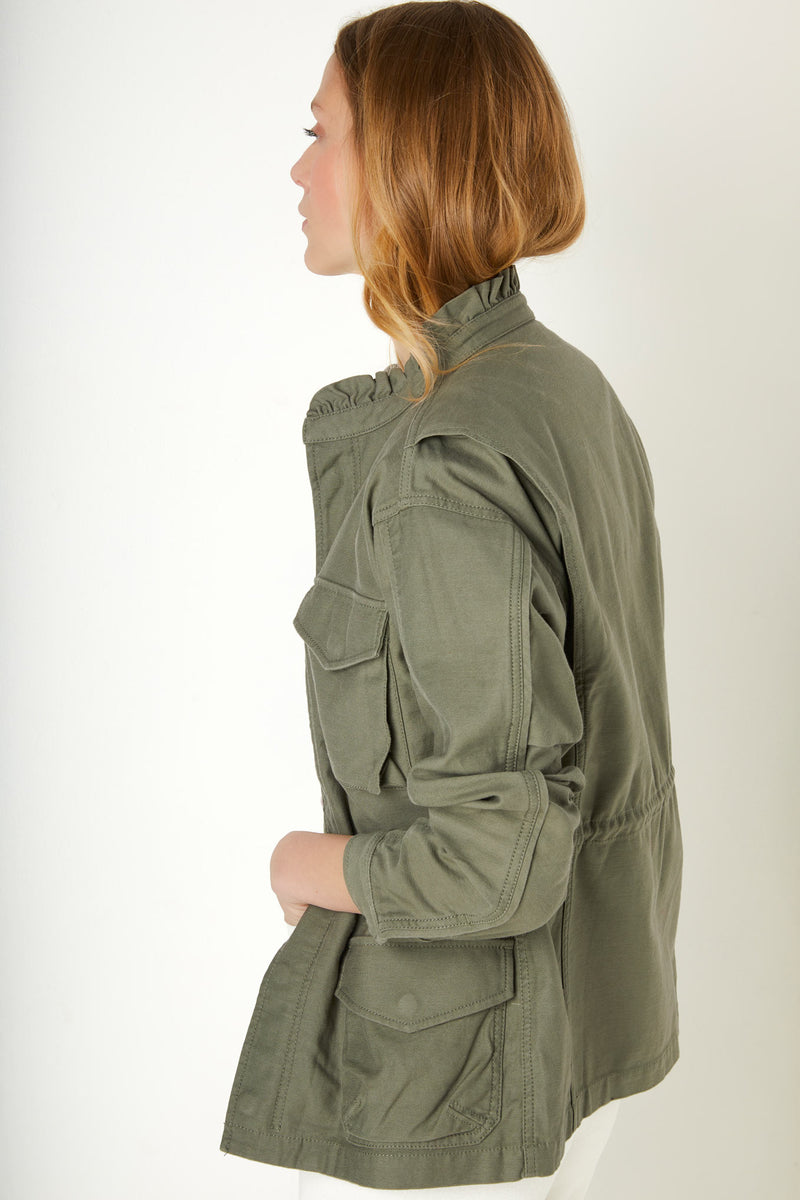 Evelyn Utility Jacket - Khaki