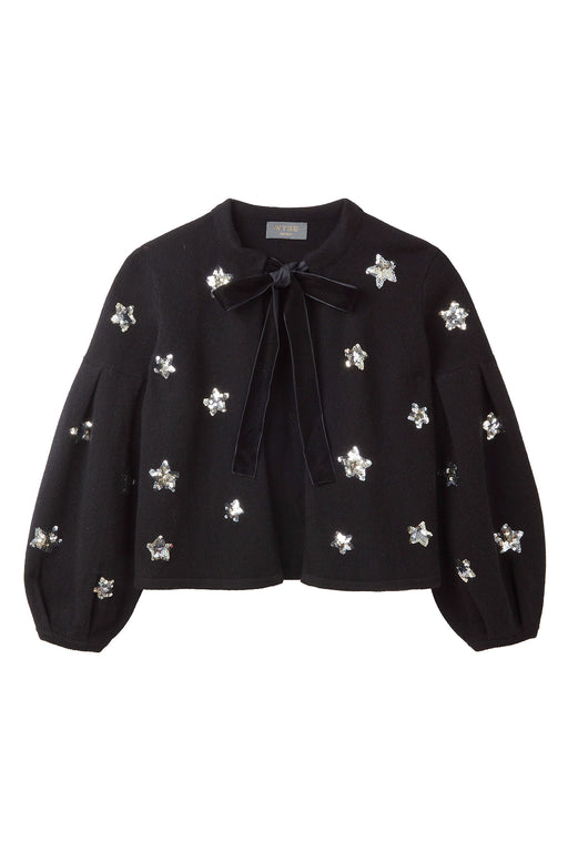 Fran Sequin Star Jacket - Black