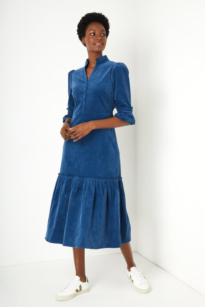 Isobel Corduroy Dress - Blue