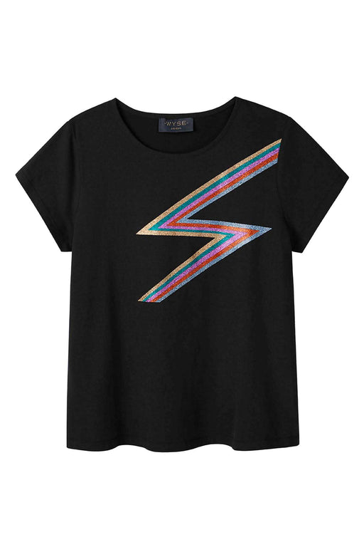 Rainbow Lightning Tee - Black