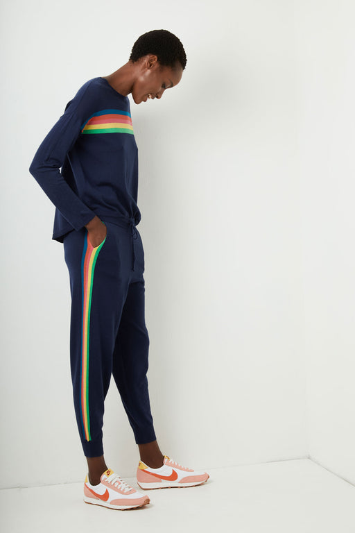 Lucie Rainbow Loungers - Navy