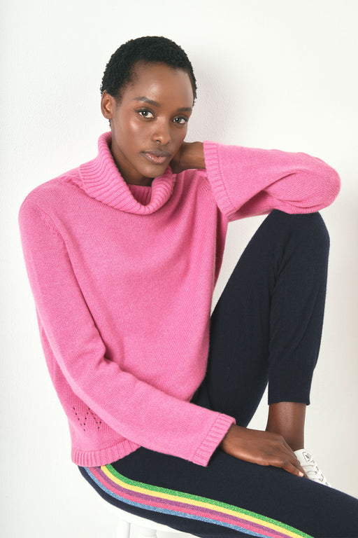 Nina Funnel Neck - Pink
