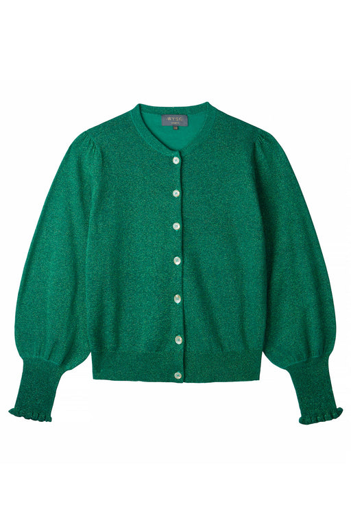 SELENA LUREX CARDIGAN - Green