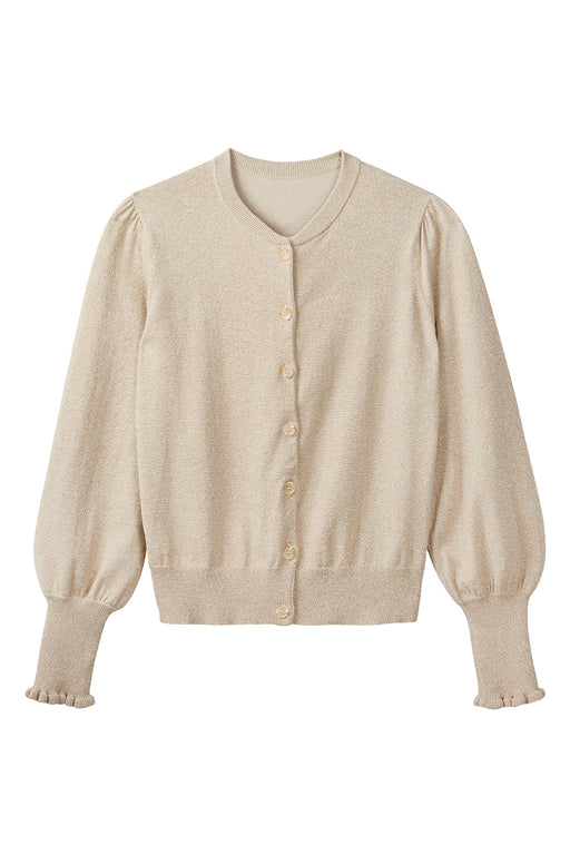 Selena Lurex Cardigan - Gold