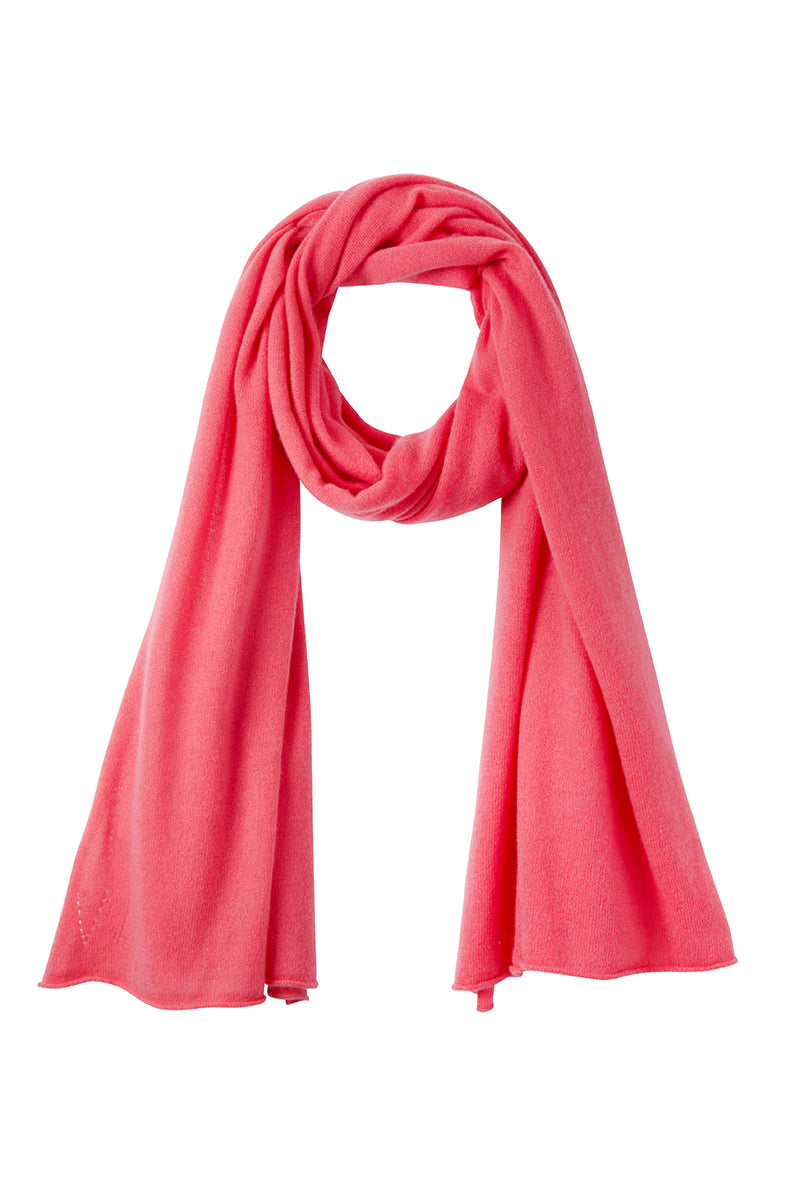 Mathilde Lightweight Cashmere Scarf - Watermelon