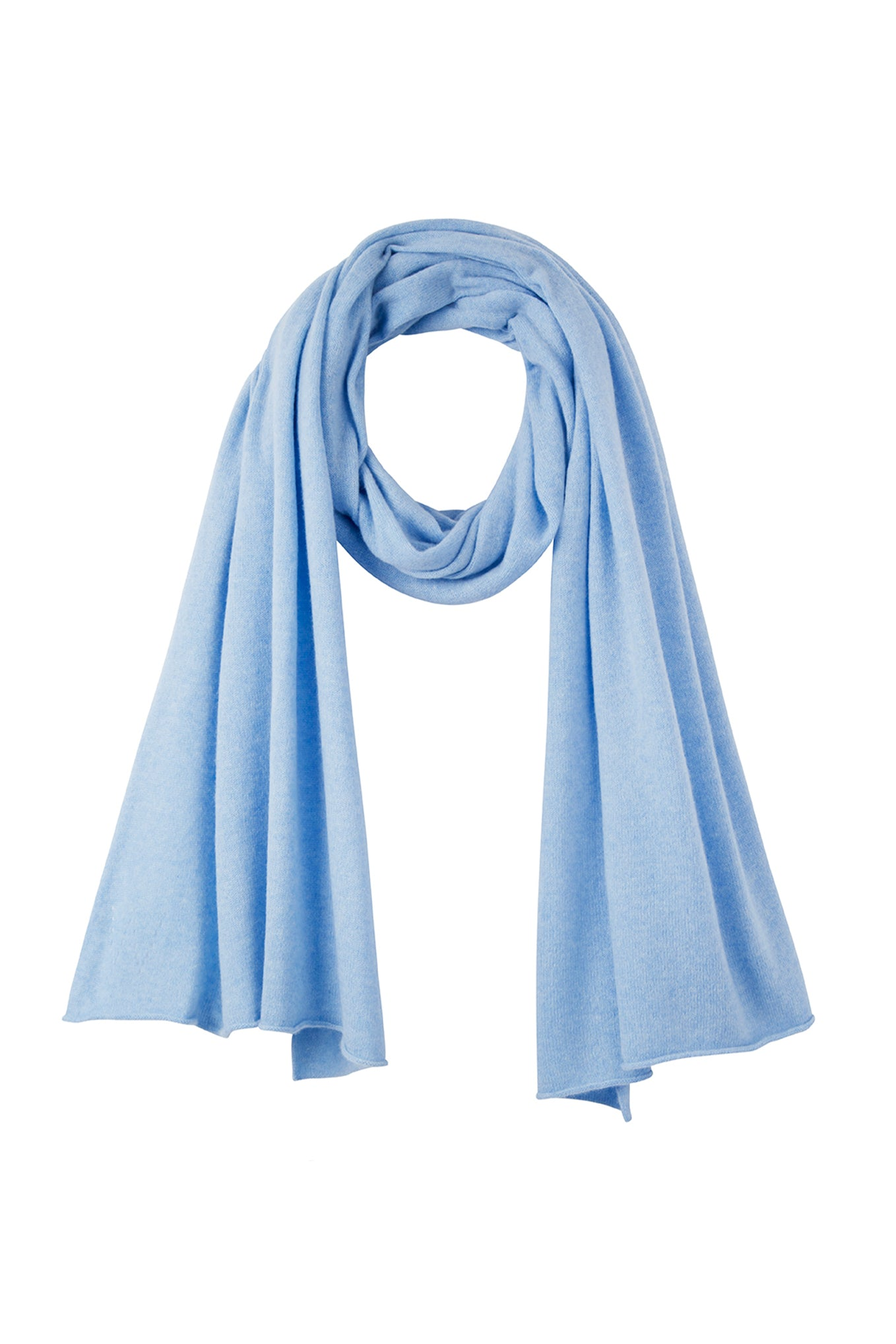 Mathilde Lightweight Cashmere Scarf - Light Blue