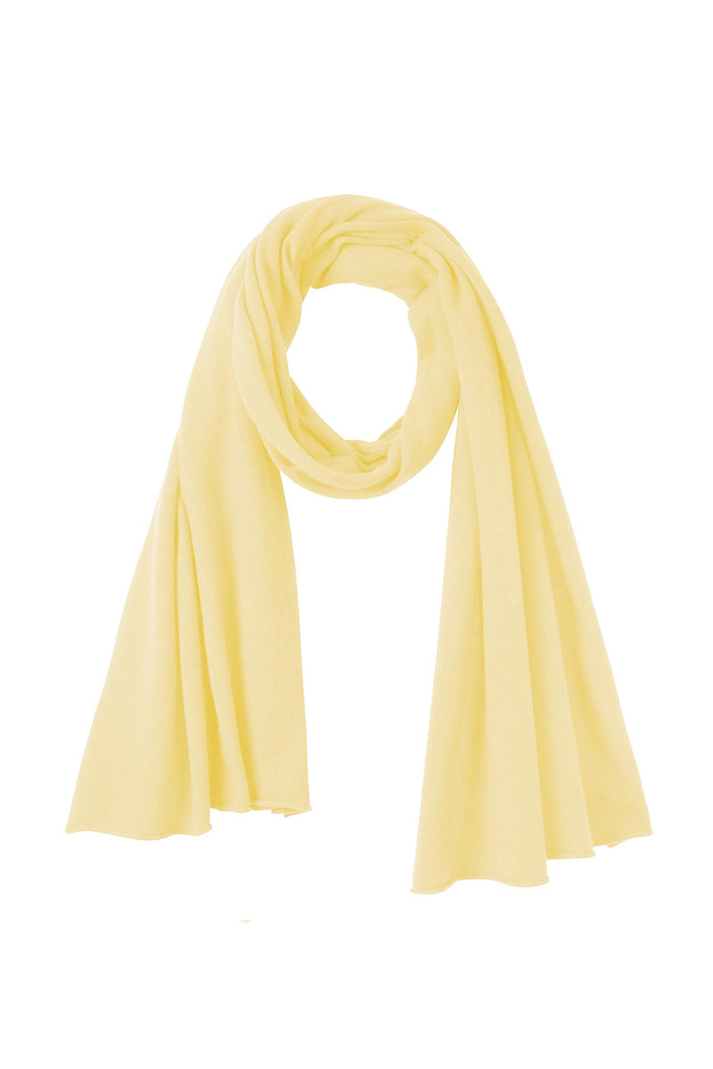 Mathilde Lightweight Cashmere Scarf - Lemon