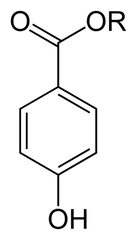 General chemical structure of a paraben