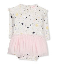 Baby Girls Stars Ballerina Bubbysuit