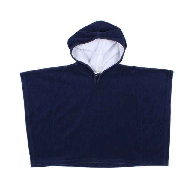 Navy Blue Hooded Towel with Sleeves