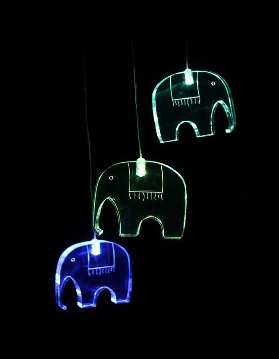 LED Elephant Mobile
