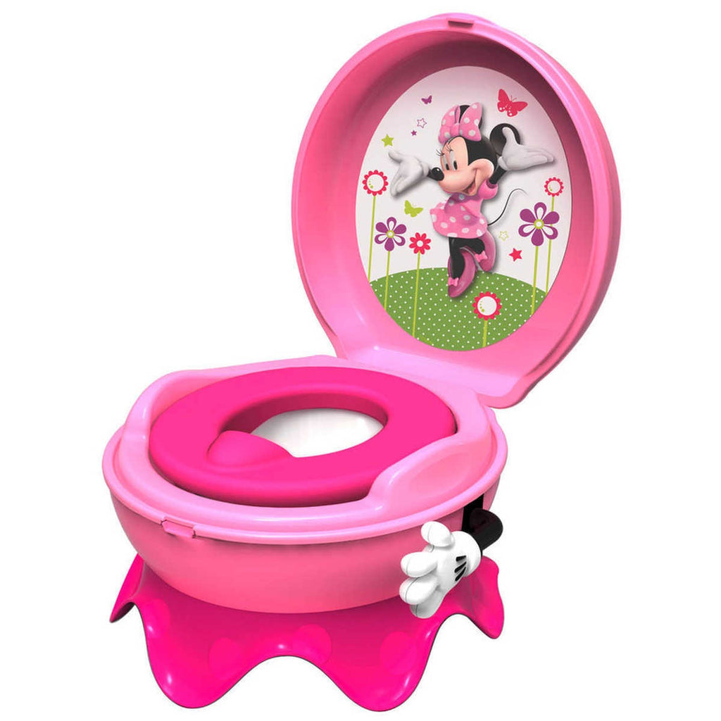 Girls Pink Minnie Mouse Musical Flushing Potty