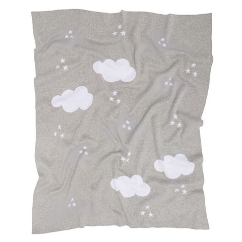 Clouds Baby Blanket - Grey