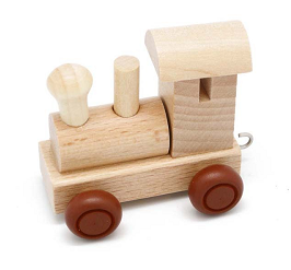 Wooden Alphabet Train Engine Kids Name Train