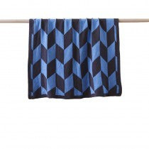 Boys Geometric Single Bed Blanket - Billie Blue