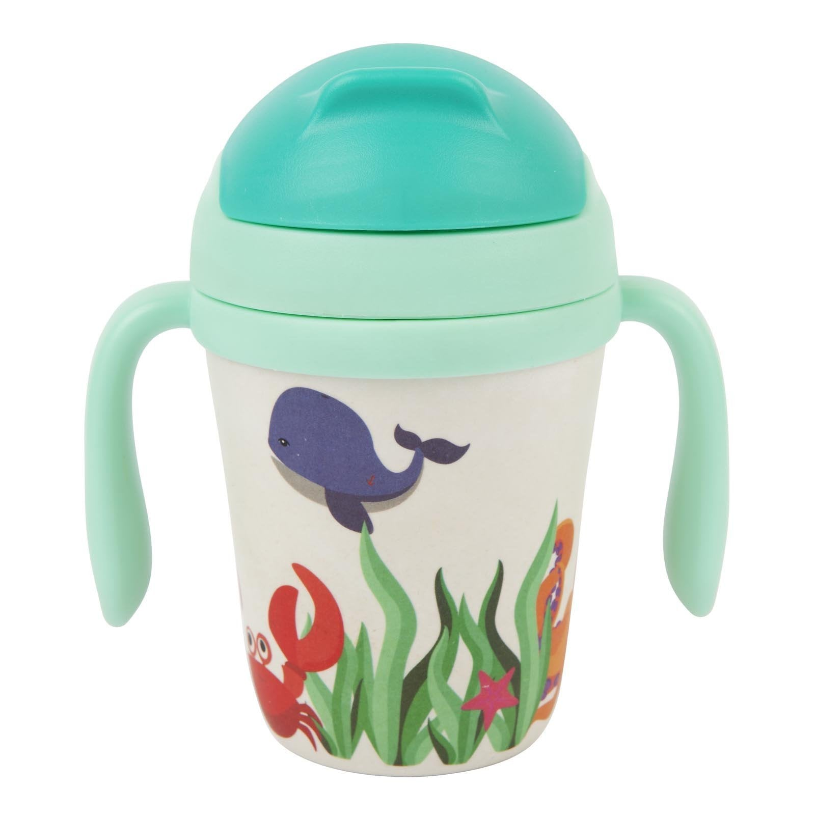 Bamboo Eco Friendly Toddler Straw Sippy Cup - Under The Sea
