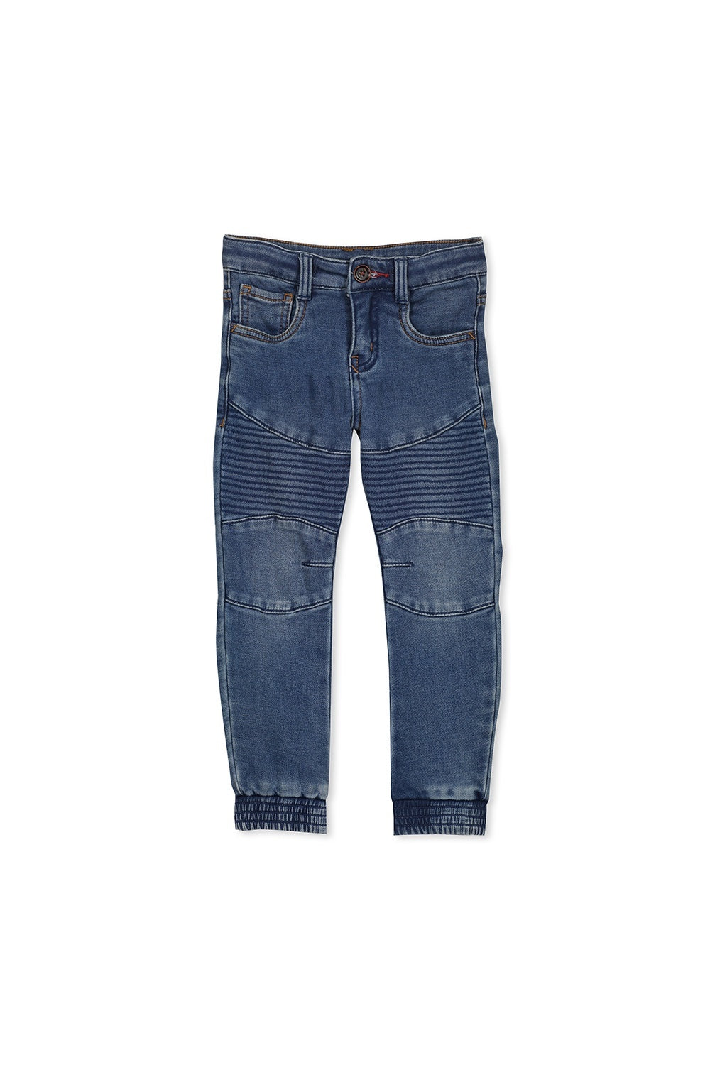 Boys Blue Knit Denim Jeans
