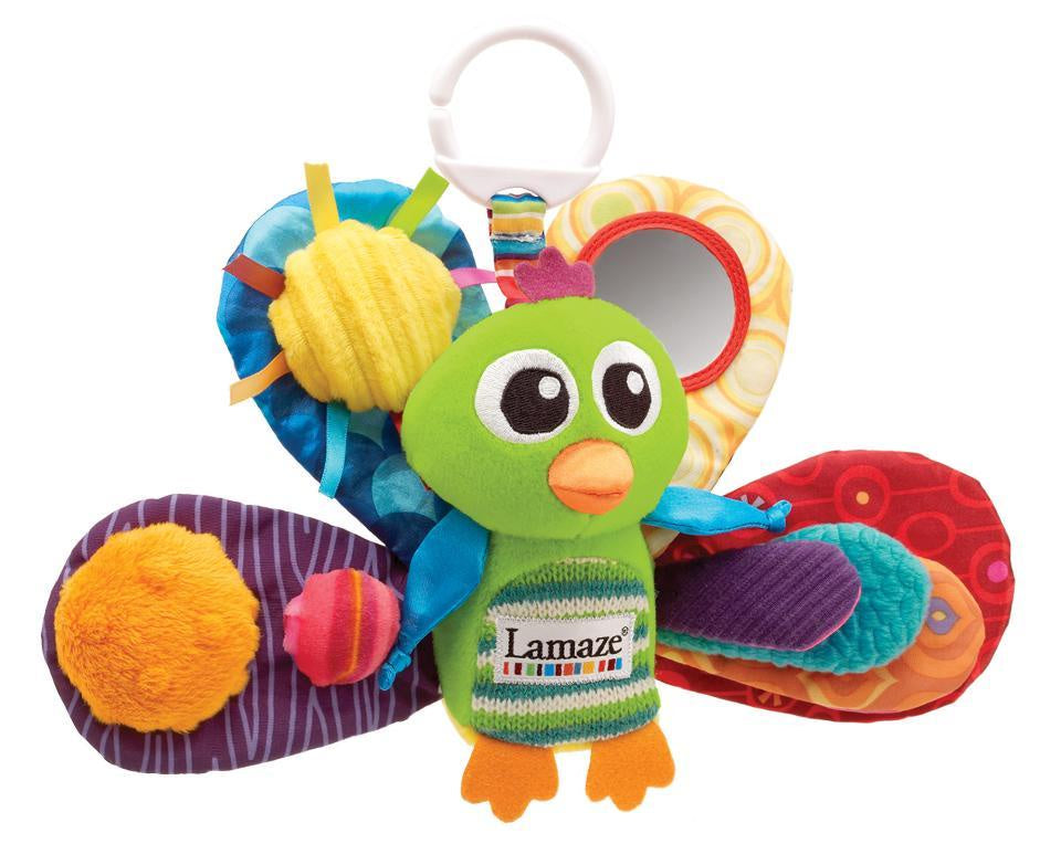 Lamaze Clip On Pram Toy Jacques the Peacock