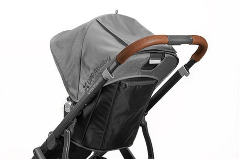 UPPAbaby Vista Leather Handle Bar Covers Saddle Tan