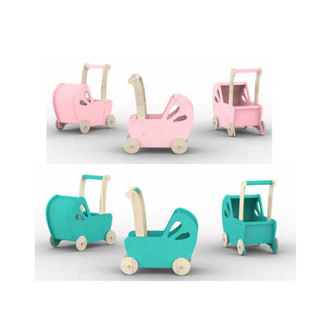 Moover Toys - Moover Line Pram Pink & Turquoise