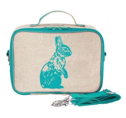 SoYoung Insulated Lunch Bag Aqua Bunny