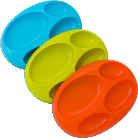 Boon Silicone Edgeless Divide Platter Plates - 3 piece set