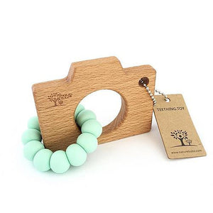 Click Snap Camera Wooden Teether