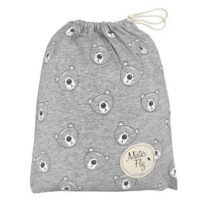 Grey Bear Mister Fly Fitted Jersey Cotton Cot Sheet
