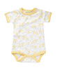 Jamie King for Sapling Unisex Baby Yellow Galaxy Bear Short Sleeve Body Suit