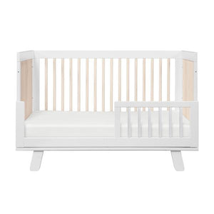 BabyLetto Hudson Convertible  Cot White & Washed Natural