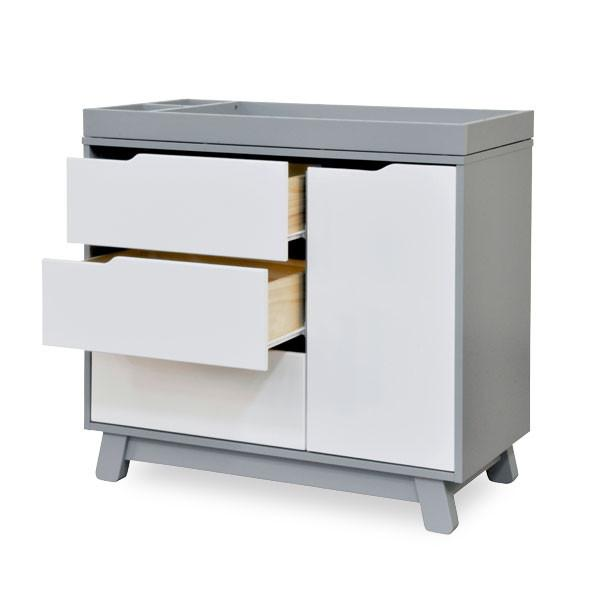 Babyletto Hudson  Changer Dresser  -  Grey & White