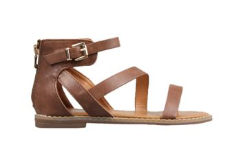 Girls Youth Bellissimo Marcia Tan Sandal Buckle